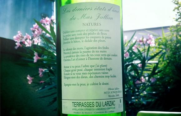 Blog Vin - Mas Jullien - Etats d ames - 2008 - Languedoc