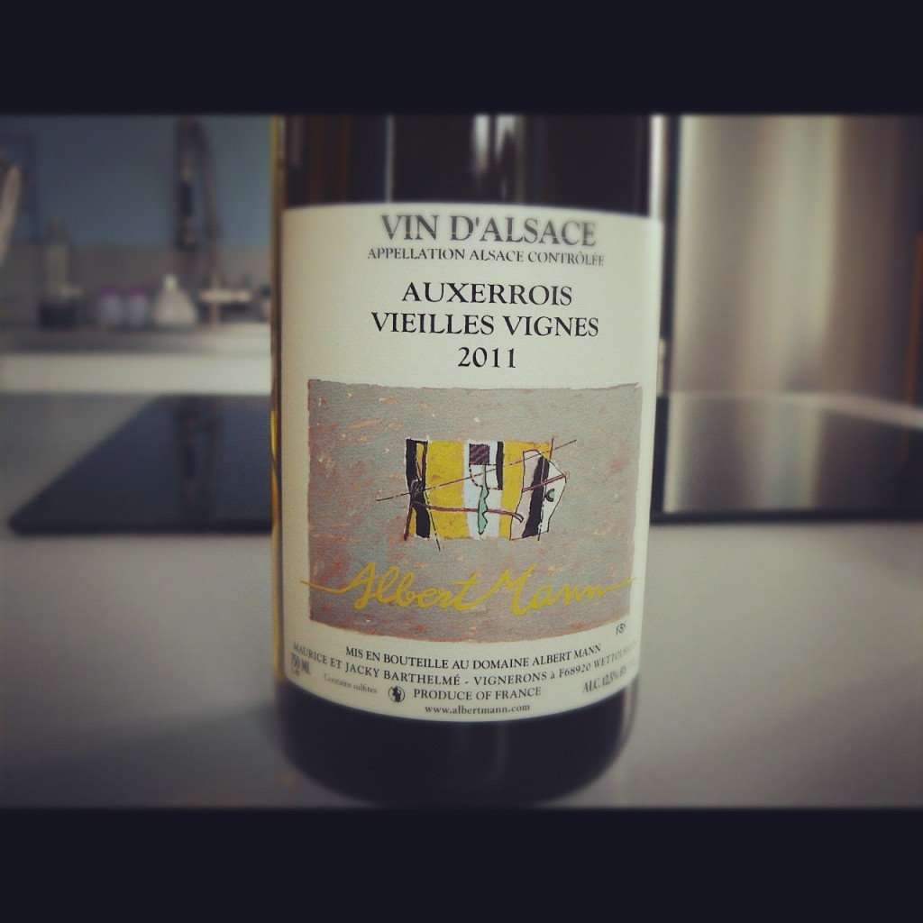 Blog vin - Albert Mann - Auxerrois Vieilles Vignes - 2011 - Alsace