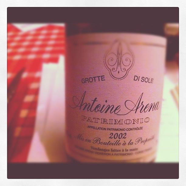 Blog vin - Antoine Arena - Grotte Di Sole - 2002 - Patrimonio