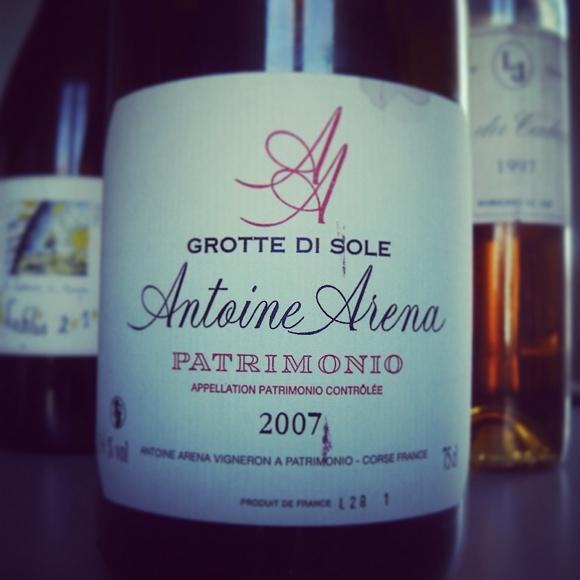 Blog vin - Antoine Arena - Patrimonio - 2007 - Grotte Di Sole - Corse