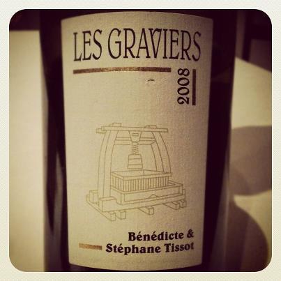 Blog vin - Bénédicte et Stéphane Tissot - Arbois - Les Graviers - 2008 - Jura