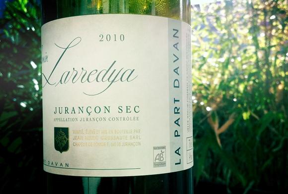 Blog vin - Camin Larredya - Part Davan - 2010 - Jurançon sec