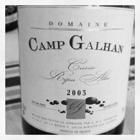 Blog vin - Camp Galhan - Ripa Alta - 2005 - VDP Duché Uzes