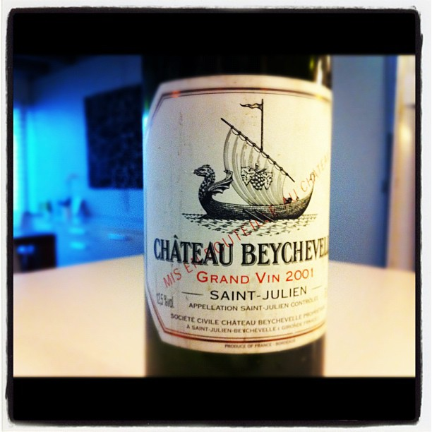 Blog vin - Chateau Beychevelle - 2001 - Saint Julien