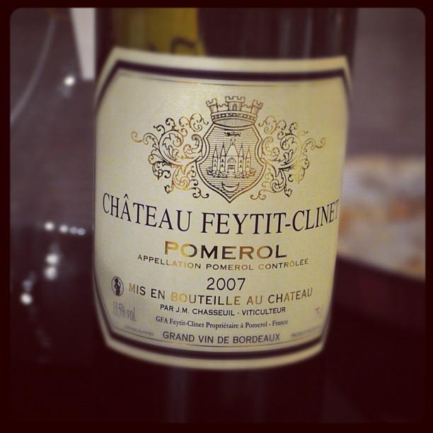 Blog vin - Chateau Feytit Clinet - 2007 - Pomerol