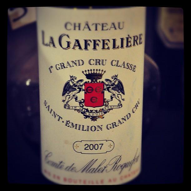 Blog vin - Chateau La Gaffelière - 2007 - Saint Emilion Grand Cru