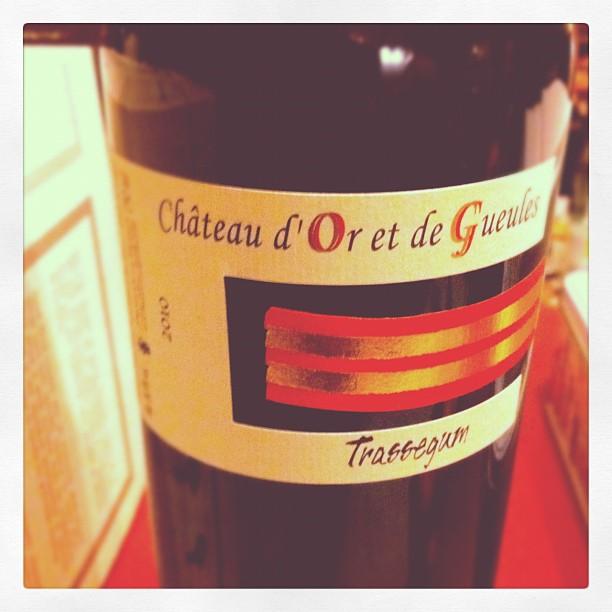 Blog vin - Chateau d'Or et de Gueules - Trassegum - 2010 - Costieres de Nimes