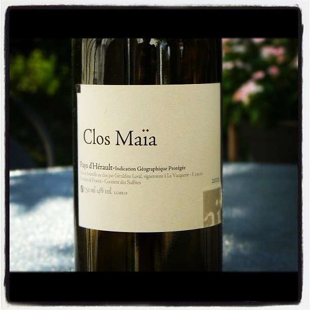 Blog vin - Clos Maïa - 2010 - IGP Pays d'Hérault - Languedoc