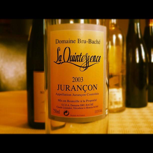 Blog vin - Domaine Bru Baché - La Quintessence - 2003 - Jurançon