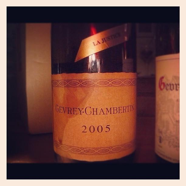 Blog vin - Domaine Charlopin Parizot - La Justice - 2005 - Gevrey Chambertin - Bourgogne