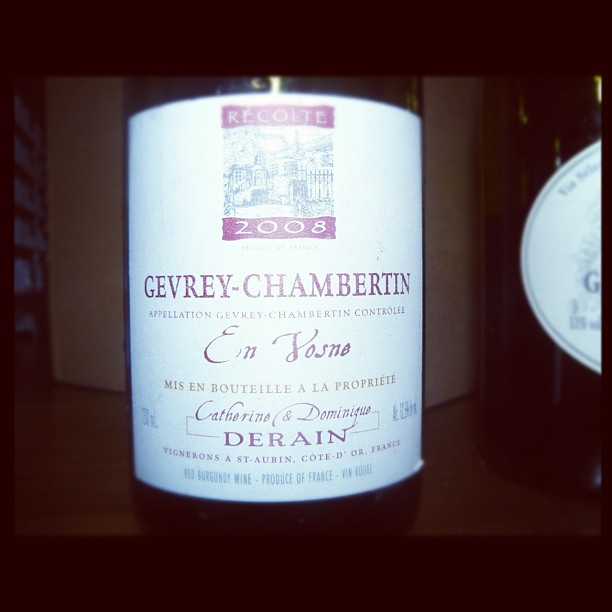 Blog vin - Domaine Derain - Gevrey Chambertin - En Vosne - 2008 - Bourgogne