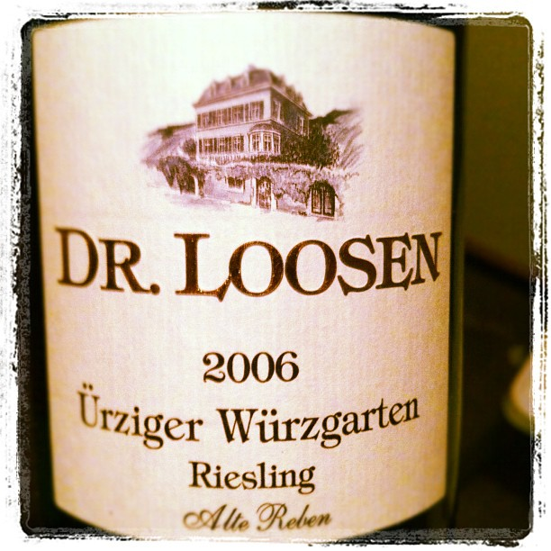 Blog vin - Domaine Dr Loosen - Urziger Wurzgarten - Riesling - Alte Reben - 2006 - Allemagne