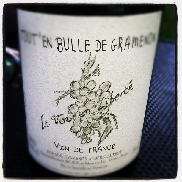Blog vin - Domaine Gramenon - Tout' en bulle - 2011 - Effervescent - Vin de France - Rhône