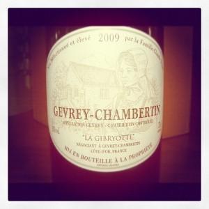 Domaine de la Gibryotte – Gevrey Chambertin Village – 2009 – Bourgogne
