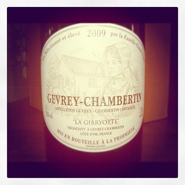 Blog vin - Domaine La Gibryotte - Gevrey Chambertin - 2009 - Bourgogne