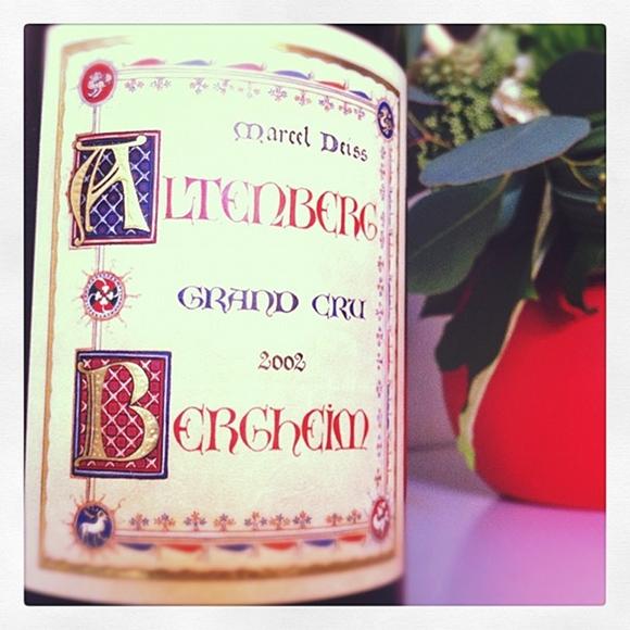 Blog vin - Domaine Marcel Deiss - Grand Cru - Altenberg de Bergheim - 2002 - Alsace