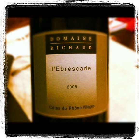 Blog vin - Domaine Marcel Richaud - Ebrescade - 2008 - Cotes du Rhone Village