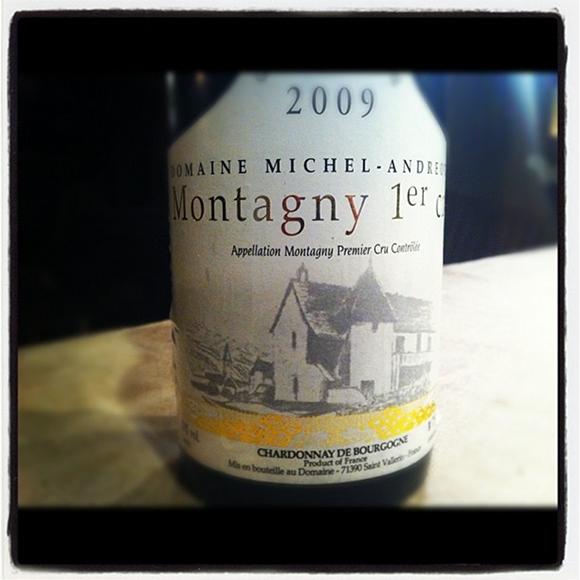 Blog vin - Domaine Michel Andreotti - Montagny 1er cru - 2009 - Bourgogne