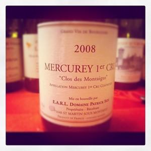 Blog vin – Domaine Patrick Size – Mercurey 1er cru – Clos des Montaigus – 2008