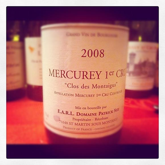 Blog vin - Domaine Patrick Size - Mercurey 1er cru - Clos des Montaigus - 2008