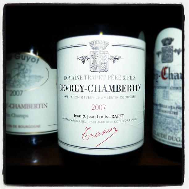 Blog vin - Domaine Trapet - 2007 - Gevrey Chambertin - Bourgogne