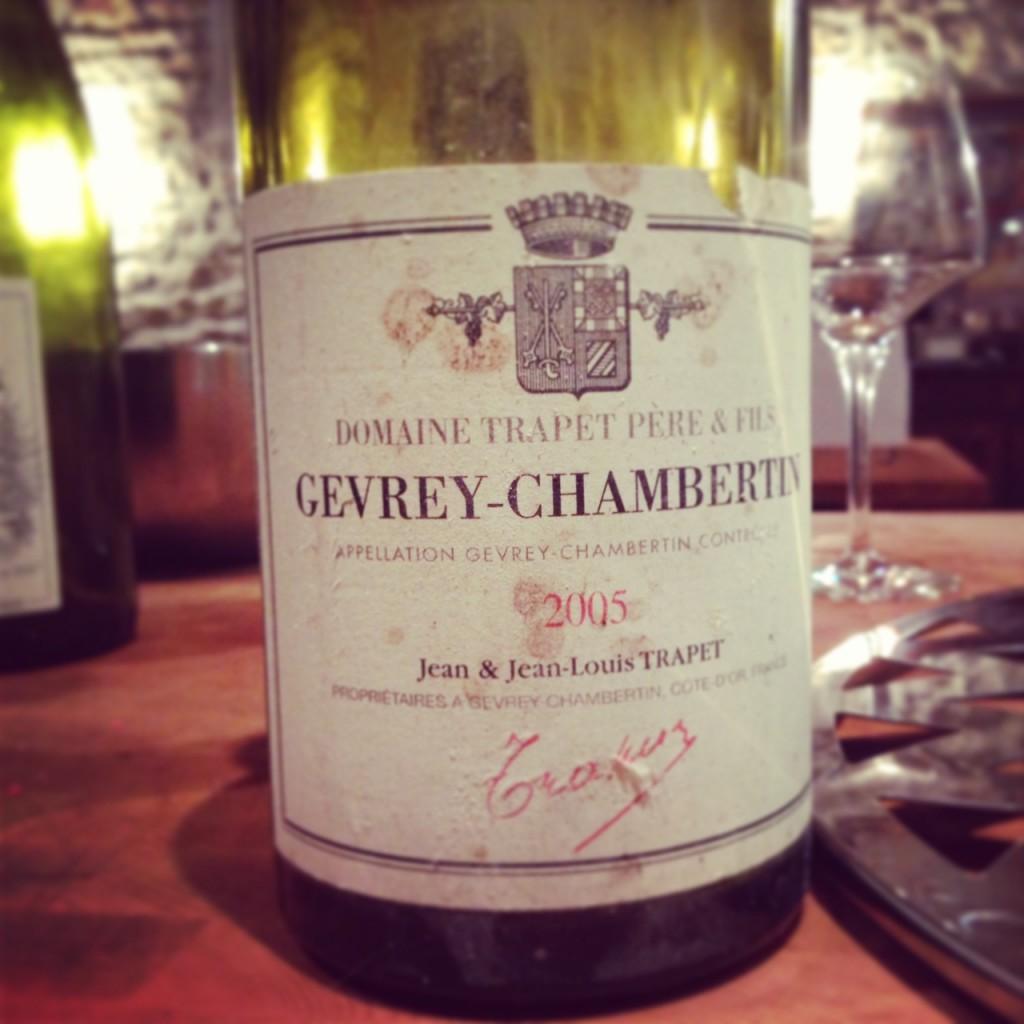 Blog vin - Domaine Trapet - Gevrey Chambertin - 2005 - Bourgogne