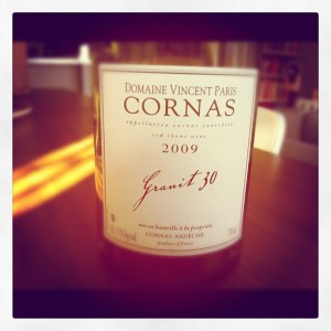 Blog vin – Vincent Paris – Granit 30 – 2009 – Cornas