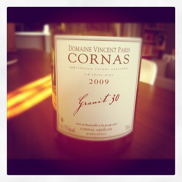 Blog vin - Domaine Vincent Paris - Granit 30 - 2009 - Cornas