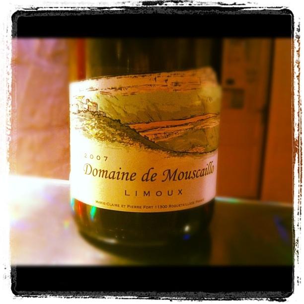 Blog vin - Domaine de Mouscaillo - Limoux - Chardonnay - 2007