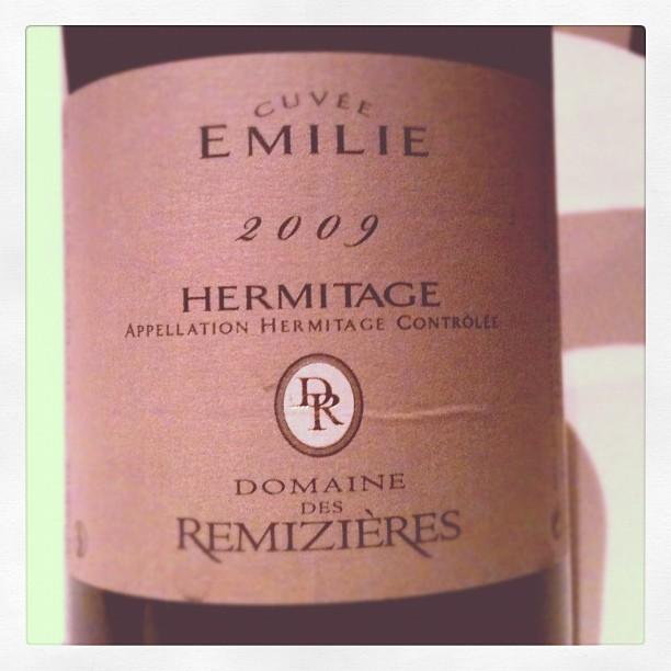Blog vin - Domaine des Remizières - Hermitage - cuvée Émilie - 2009 - Rhône