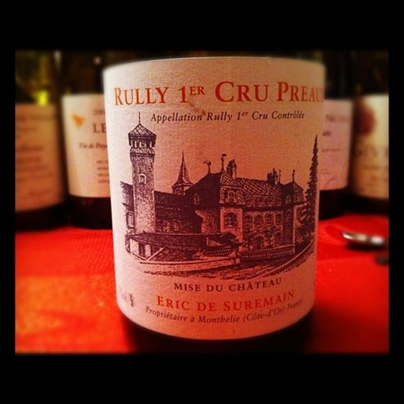 Blog vin - Eric de Seuremain - Rully 1er cru Preaux - 2008