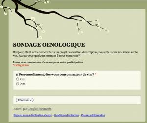 Blog vin – Sondage oenologique