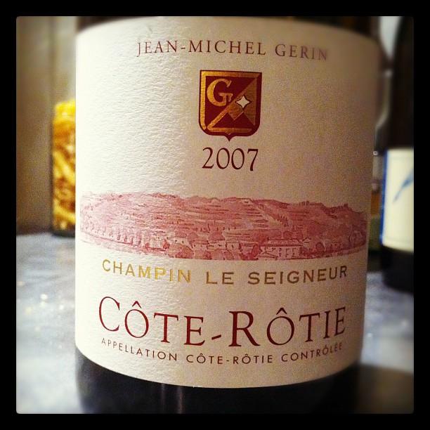Blog vin - Jean Michel Gerin - Côte Rôtie - Champin Le Seigneur - 2007