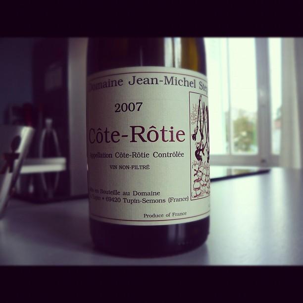 Blog-vin - Jean Michel Stephan - Côte rôtie - 2007 - Rhône