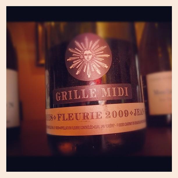 Blog vin - Jean Paul Brun - Fleurie - Grille Midi - 2009 - Beaujolais