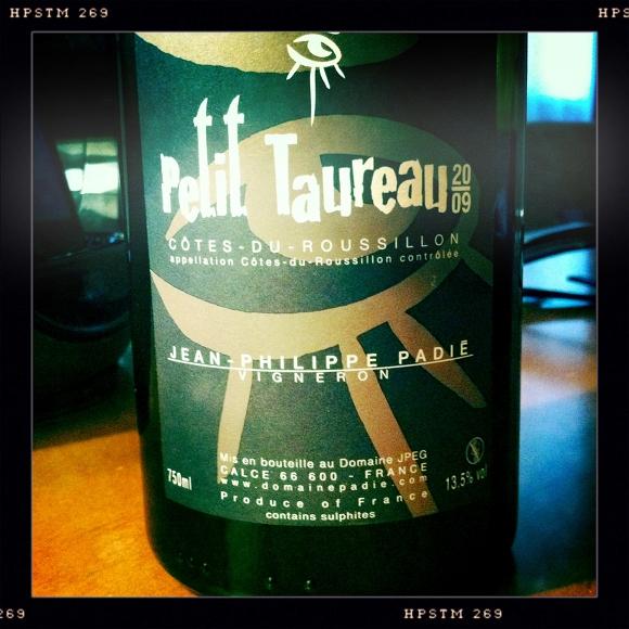 Blog vin - Jean Philippe Padié - Petit Taureau - 2009