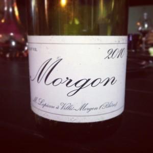 Blog vin – M. Lapierre – Morgon – 2010 – Beaujolais – Rouge