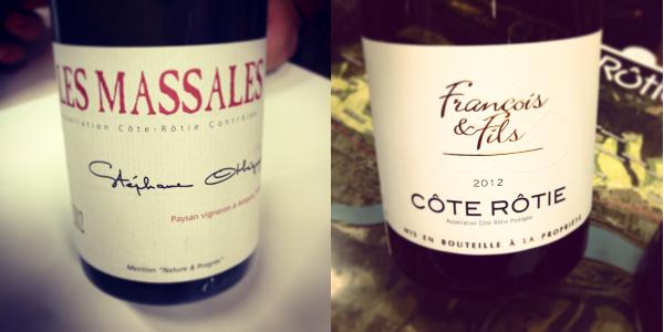 Blog vin - Marché aux vins - Ampuis - Otheguy - Les Massales - Cote Rotie - 2011