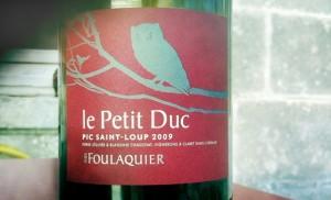 Mas Foulaquier – Le Petit Duc – 2009 – Pic Saint Loup