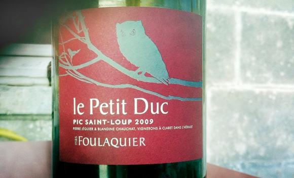Blog vin - Mas Foulaquier - Petit Duc - 2009 - Pic Saint Loup