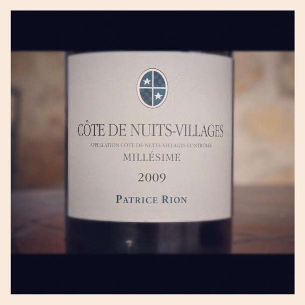 Blog vin - Patrice Rion - Côte de Nuits Villages - Rouge - 2009 - Bourgogne