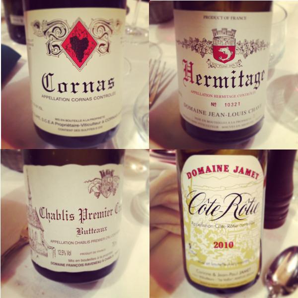 Blog vin - Restaurant - Le Chaudron - Tournon Sur Rhone - Carte des vins - diapo vins degustés