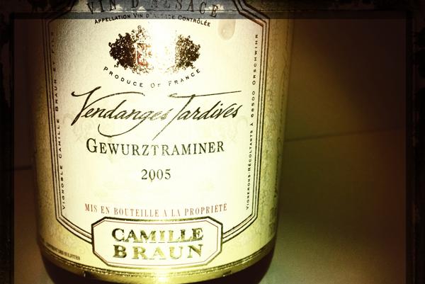 Blog vin camille braun gewurztraminer vendanges for Maison classique curitiba venda