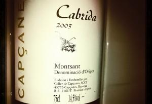 Celler Capçanes – Cabrida – Montsant – 2003