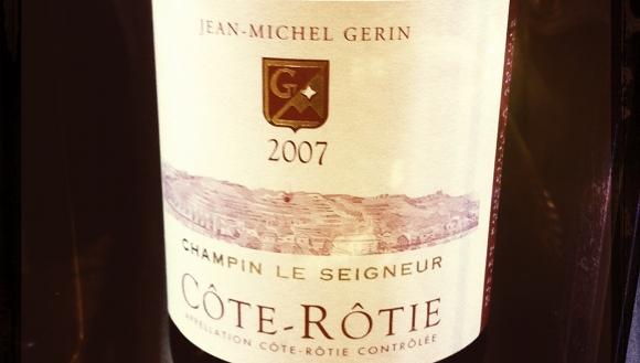 Cote rotie - Jean miche Gerin - Champin Le Seigneur - 2007