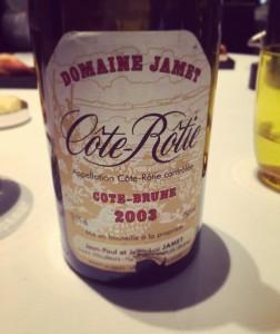 Domaine Jamet – Côte Rôtie – Côte Brune – 2003 – Vallée du Rhône