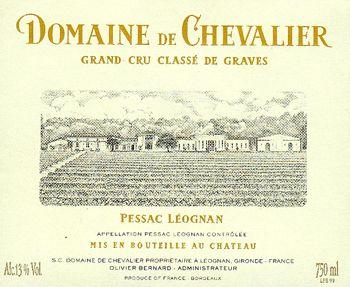 blog vin - Domaine de chevalier blanc 2006 - Pessac Leognan
