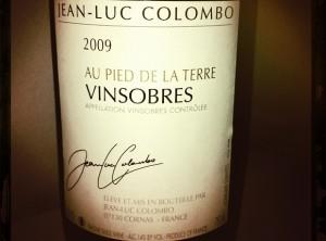 Jean Luc Colombo – Vinsobres – 2009