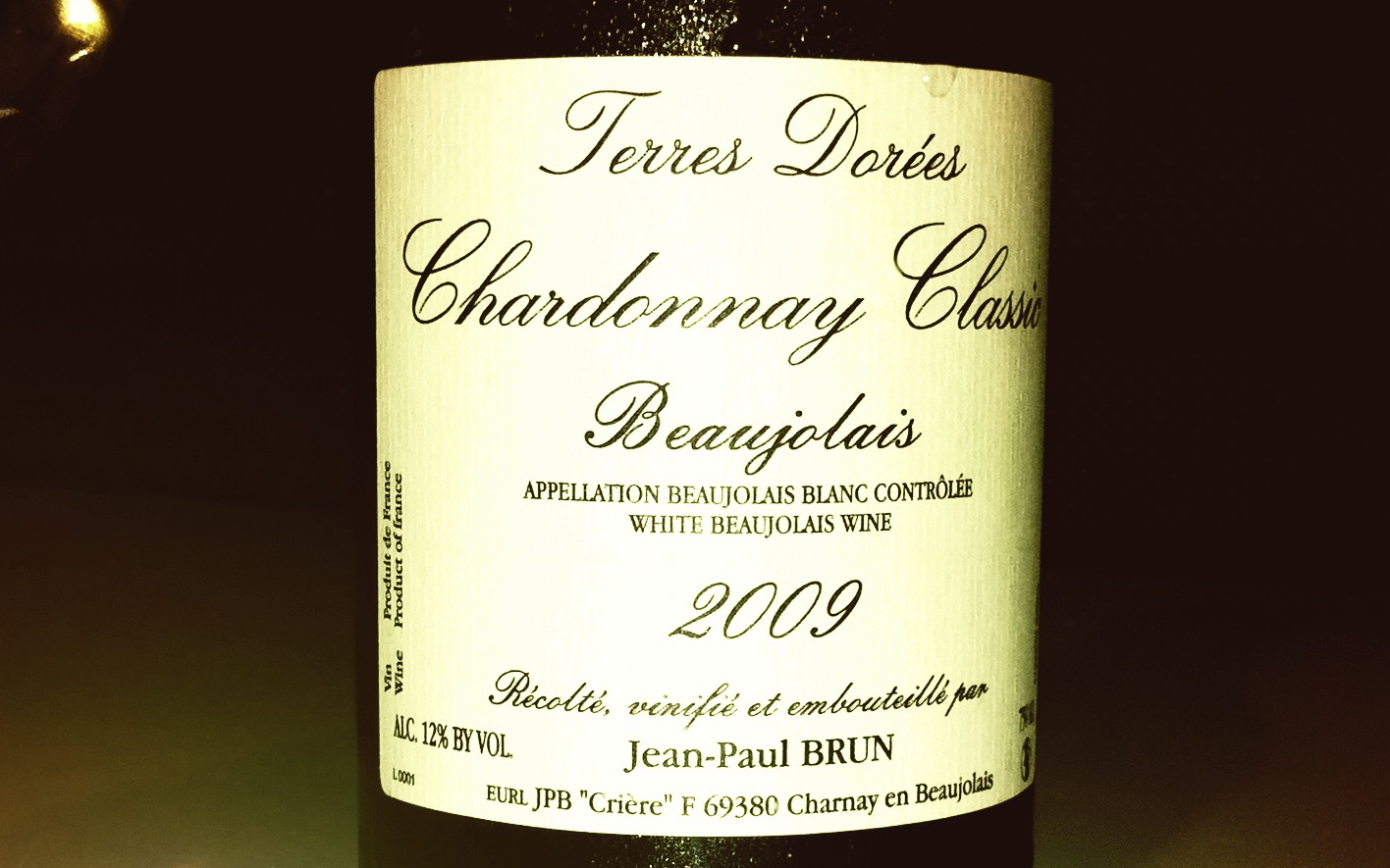 Blog vin - Jean Paul Brun - Chardonnay - 2009 - Beaujolais