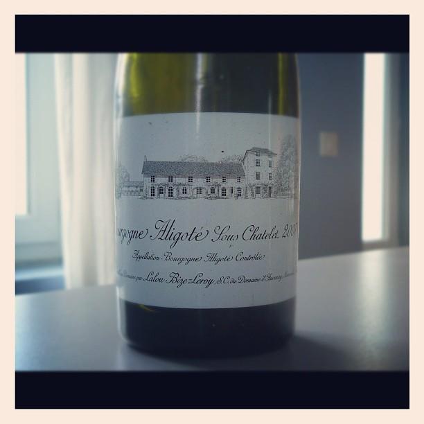 blog vin - Domaine D'Auvenay - Lalou Bize Leroy - Aligoté - 2007 - Bourgogne